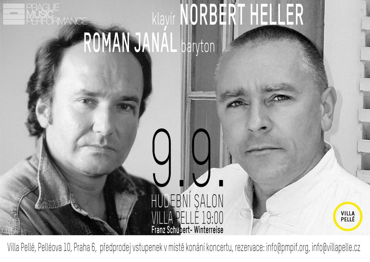 Hudební salon Pellé uvádí: Zimní cesta Franze Schuberta / Roman Janál vdoprovodu Norberta Hellera