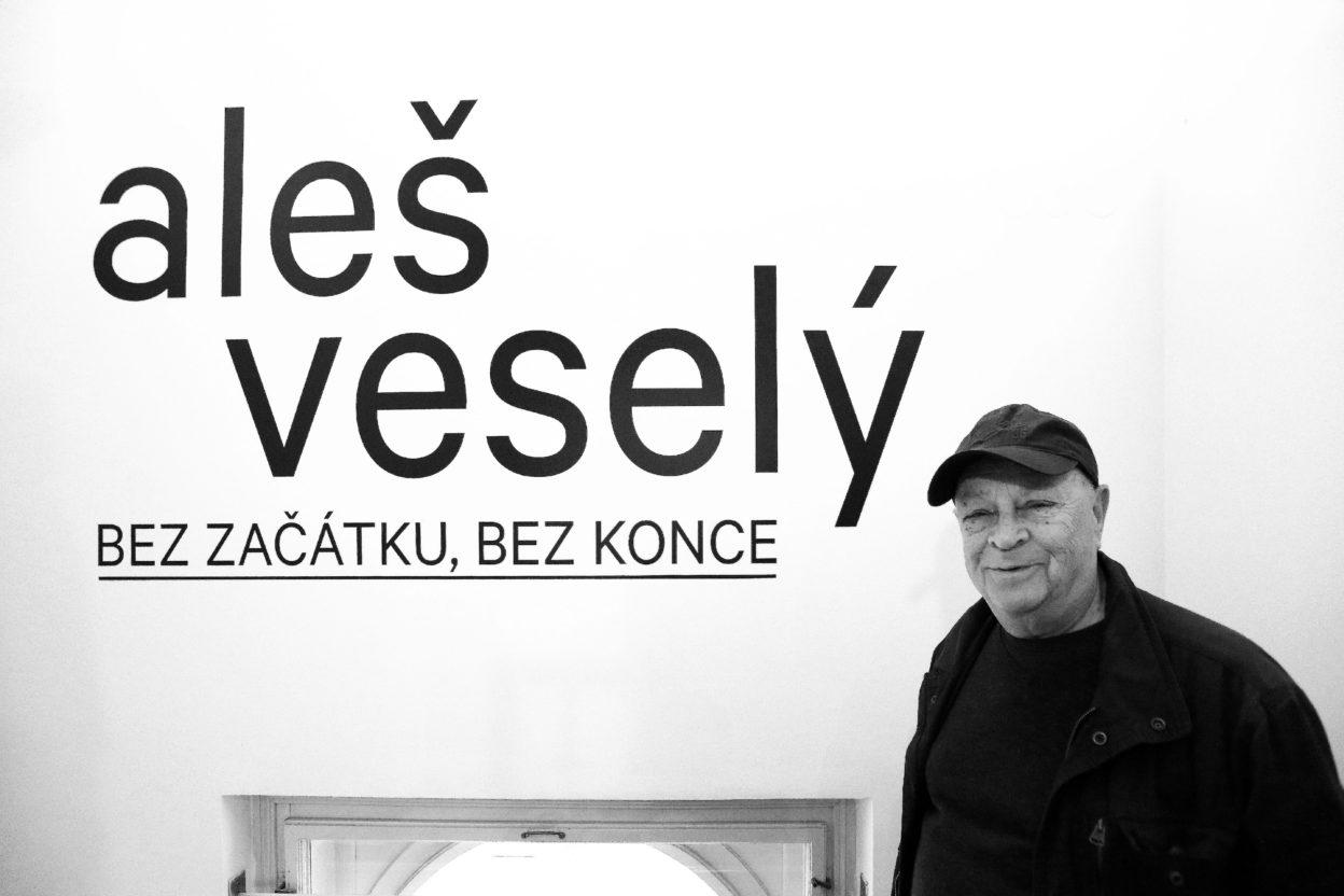 BEZ ZAČÁTKU, BEZ KONCE / II. komentovaná prohlídka výstavou sAlešem Veselým – 10.10.