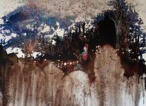 Last Snow, 2016, acrylic and oil on canvas,135x115cm