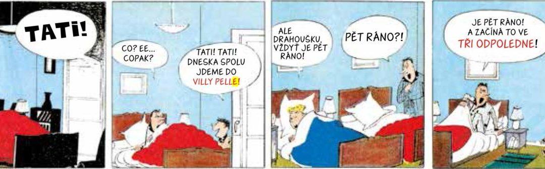 Malý Mikuláš vkomiksu! Oslavte Den otců vzahradě Villa Pellé!