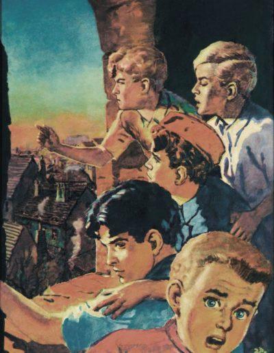 Nejznámější kresba Bimby – Rychlé šípy ve Stínadlech pro časopis Vpřed Jaroslava Foglara (1946)
