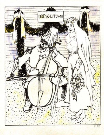 Emil Filla –Německá muzika a ruská tanečnice, 1918