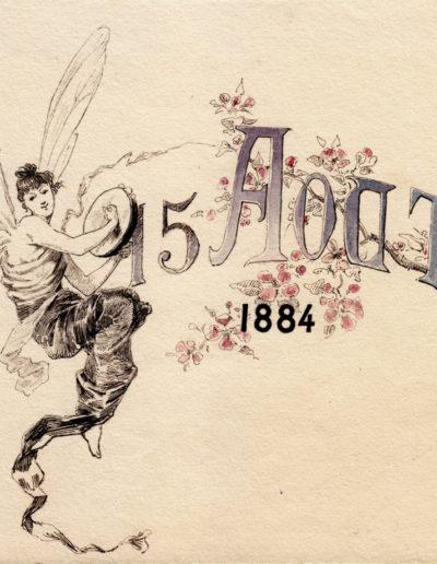 Pozvánka na taneční večer, Maurice Pellé, 1884