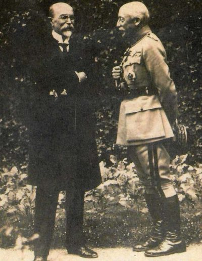 Maurice Pellé a Tomáš Garrique Masaryk