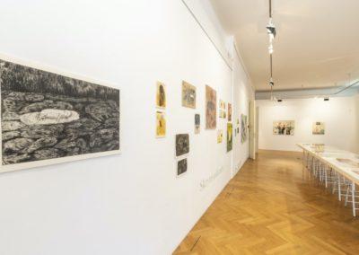 © Galerie Villa Pellé 2019, foto: Eva Malúšová : instalace výstavy Alžběta Skálová, Chůze v šeru29
