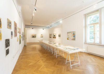 © Galerie Villa Pellé 2019, foto: Eva Malúšová : instalace výstavy Alžběta Skálová, Chůze v šeru30