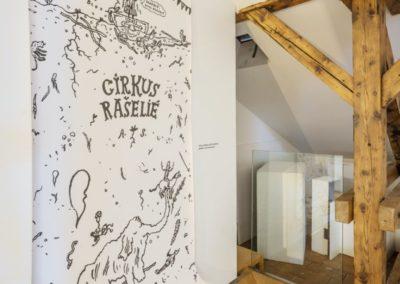 © Galerie Villa Pellé 2019, foto: Eva Malúšová : instalace výstavy Alžběta Skálová, Chůze v šeru43