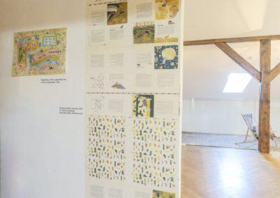 © Galerie Villa Pellé 2019, foto: Eva Malúšová : instalace výstavy Alžběta Skálová, Chůze v šeru44