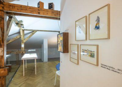 © Galerie Villa Pellé 2019, foto: Eva Malúšová : instalace výstavy Alžběta Skálová, Chůze v šeru56
