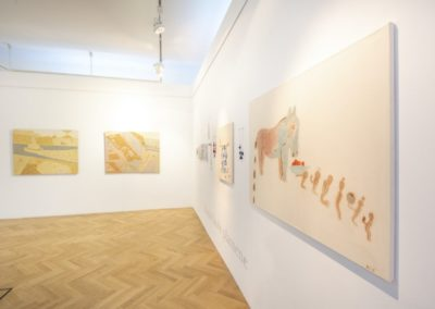 © Galerie Villa Pellé 2019, foto: Eva Malúšová : instalace výstavy Alžběta Skálová, Chůze v šeru7