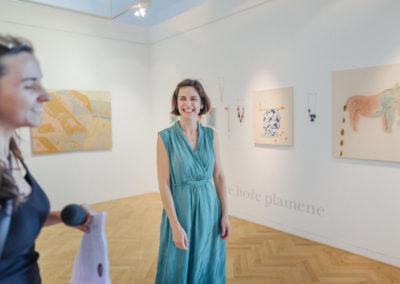 © Galerie Villa Pellé 2019, foto: Eva Malúšová : vernisáž výstavy Alžběta Skálová, Chůze v šeru1