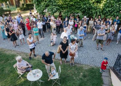 © Galerie Villa Pellé 2019, foto: Eva Malúšová : vernisáž výstavy Alžběta Skálová, Chůze v šeru35