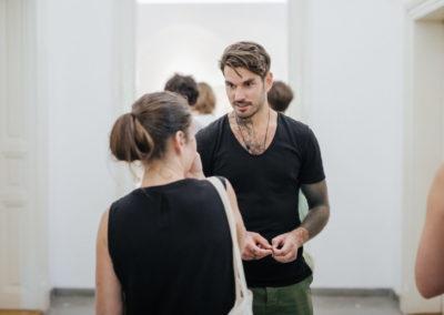© Galerie Villa Pellé 2019, foto: Eva Malúšová : vernisáž výstavy Alžběta Skálová, Chůze v šeru73