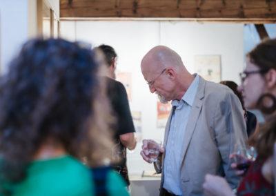 © Galerie Villa Pellé 2019, foto: Eva Malúšová : vernisáž výstavy Alžběta Skálová, Chůze v šeru87