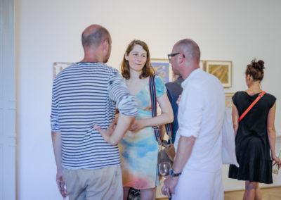 © Galerie Villa Pellé 2019, foto: Eva Malúšová : vernisáž výstavy Alžběta Skálová, Chůze v šeru93