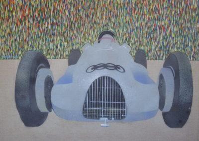 Jan_Tichý_7_Střbrný šíp_akryl na plátně 70 x 90 cm